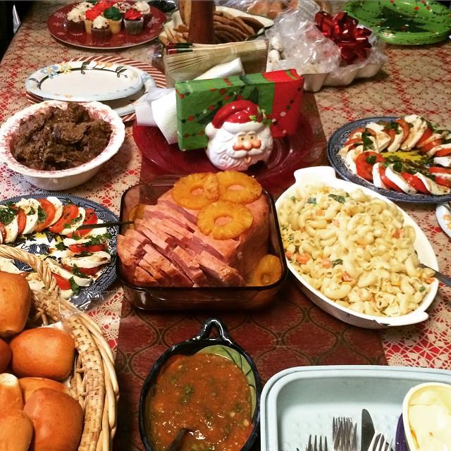 Christmas Ham Dinner.Christmas Roast And Ham Dinner Had Tamales For Christmas