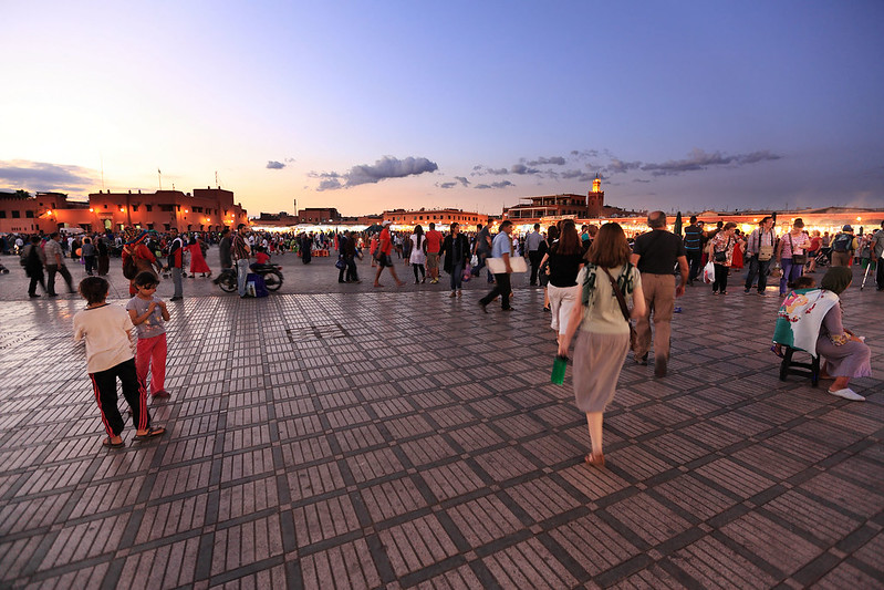 Arriving in Jemaa el-Fnaa