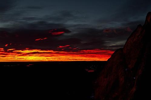 sunrise dawn morning sky clouds red orange landscape morrison colorado denver redrocks landscapes