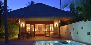 Deluxe beach bungalow   by huvafen_fushi