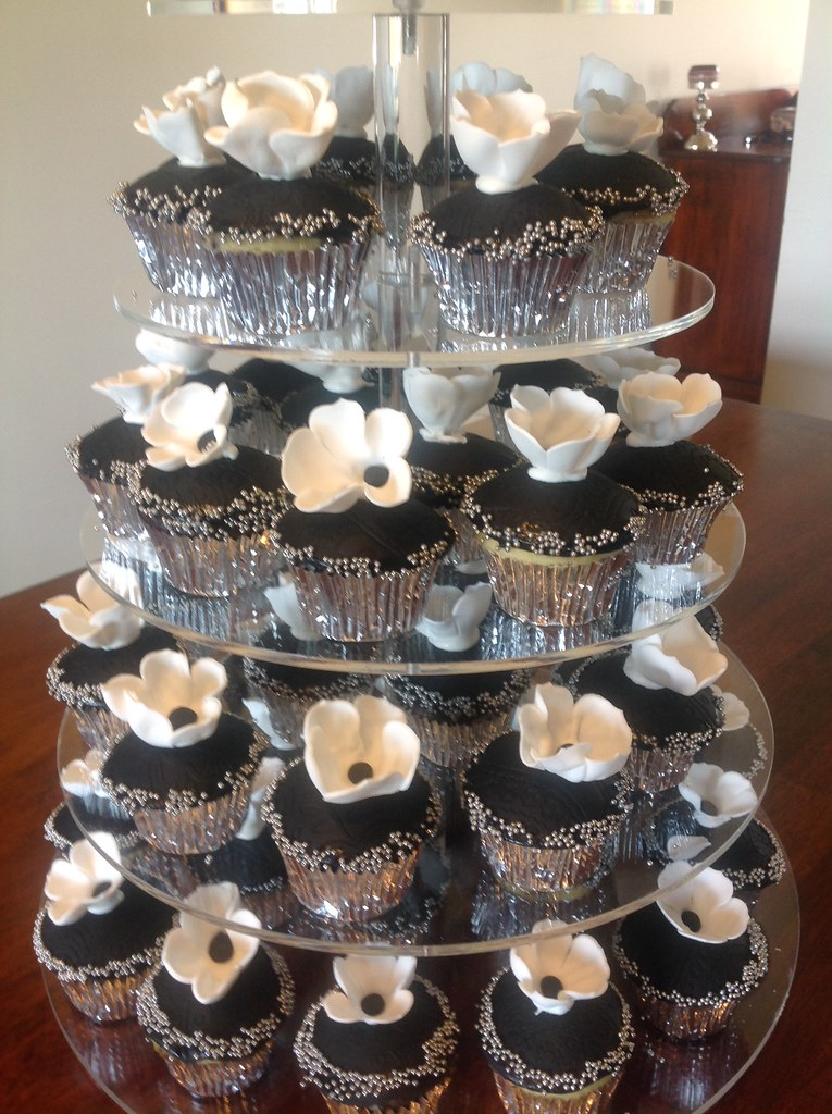 Pleasing Black White And Silver Birthday Cake Cupcakes For 18Th Flickr Personalised Birthday Cards Epsylily Jamesorg