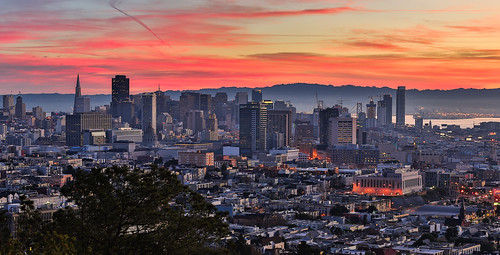 sanfrancisco sunrise dawn redrock coronaheights reddawn