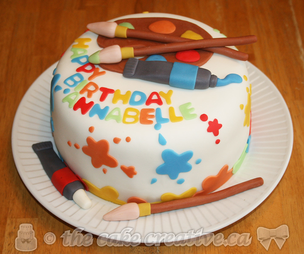 Prime Artist Birthday Cake A Photo On Flickriver Personalised Birthday Cards Paralily Jamesorg
