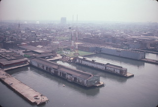 Aerial view of Greenpoint and WNYC Transmitter Park (undeveloped) 1985 | by NYCEDC