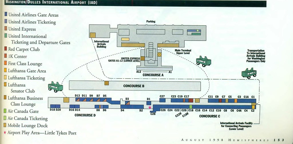 United Dulles diagram, August 1998   A United Airlines diagr ...