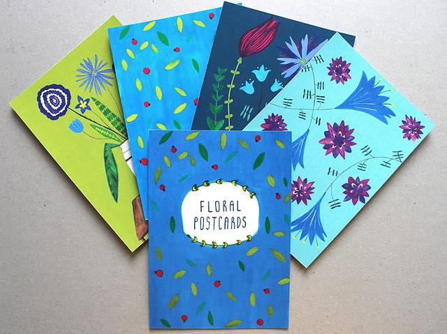 Floral Postcard Set