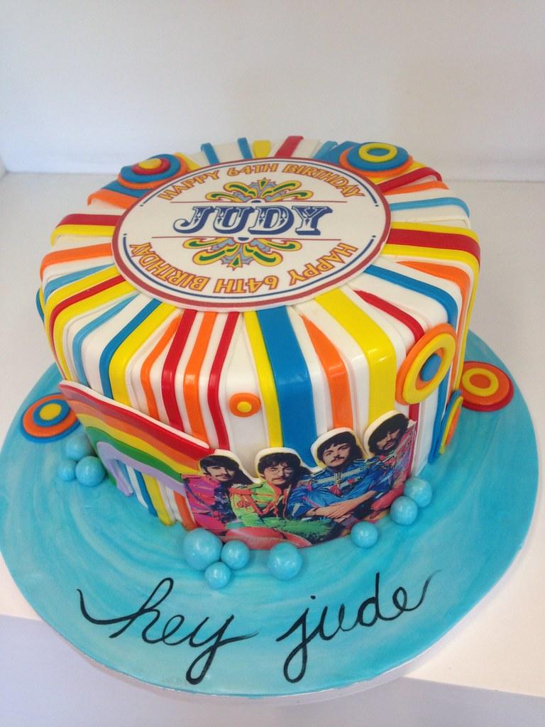 Amazing Beatles Cake 3457 Colorful Beatles Themed Birthday Cake Flickr Funny Birthday Cards Online Alyptdamsfinfo
