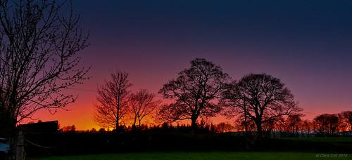 sunset wales llanarmonynial