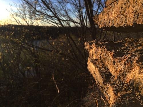 Some cliff type of thing | Minneapolis, Minnesota
