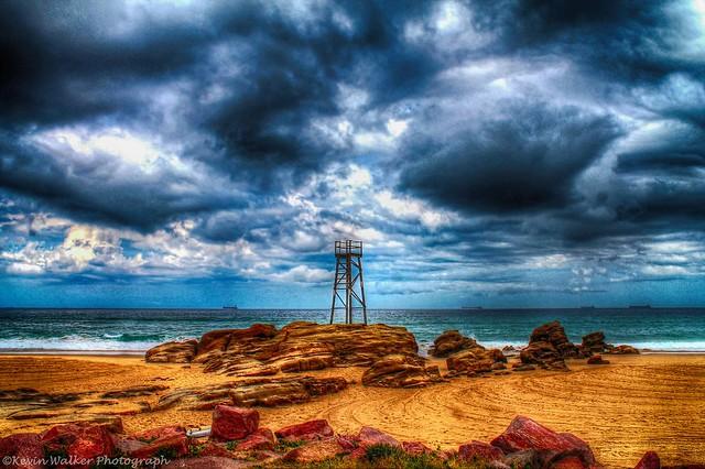 Redhead Beach & Shark Tower