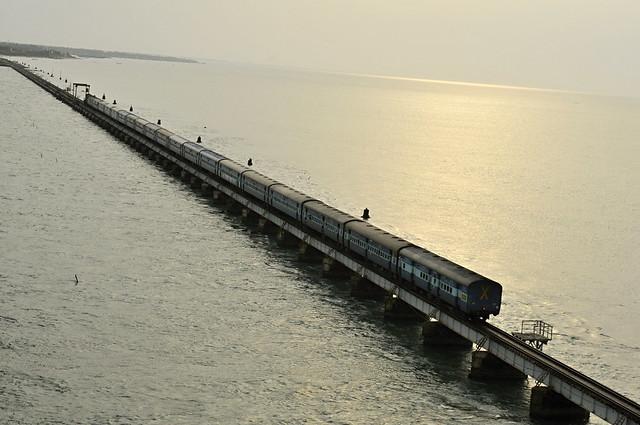 KanyaKumari Train and Bridge