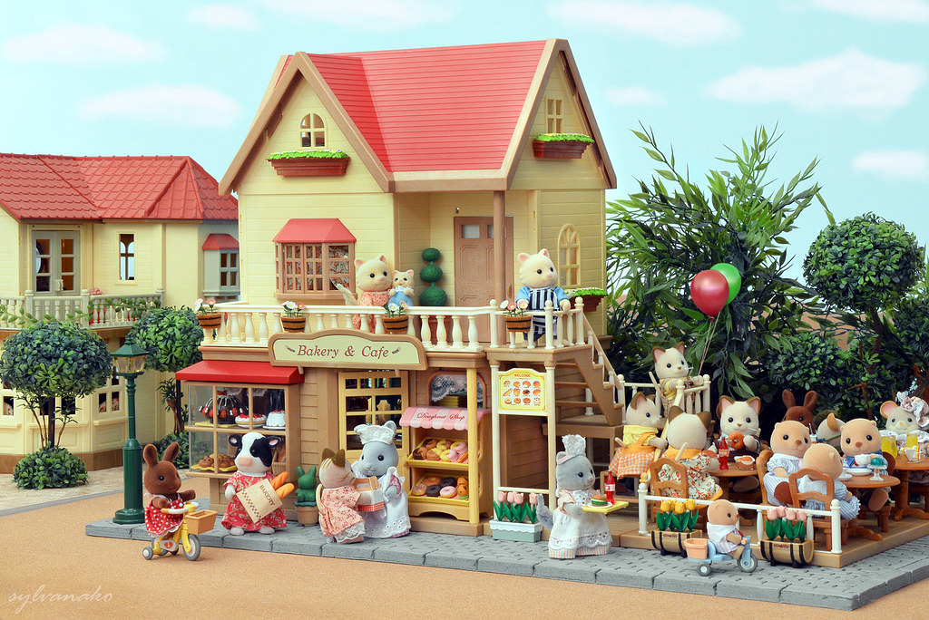 Sylvanian Families Bakery Cafe Shop A Great Place To S Flickr