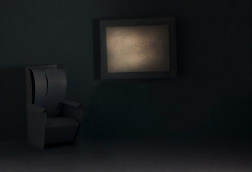 Blue Monochrome Living Room