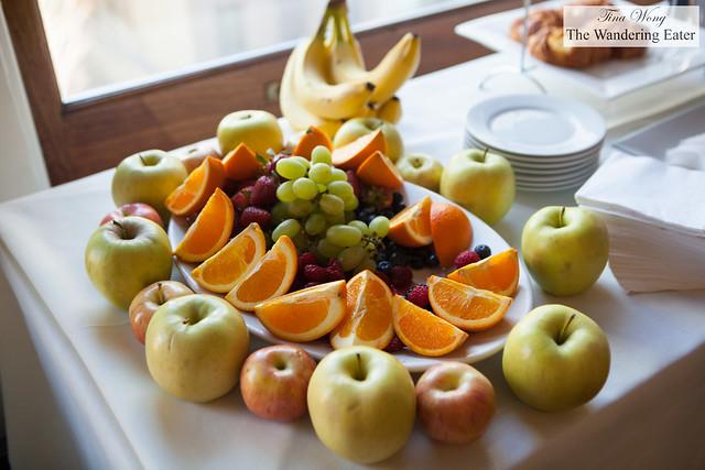 Part of breakfast - fresh fruit