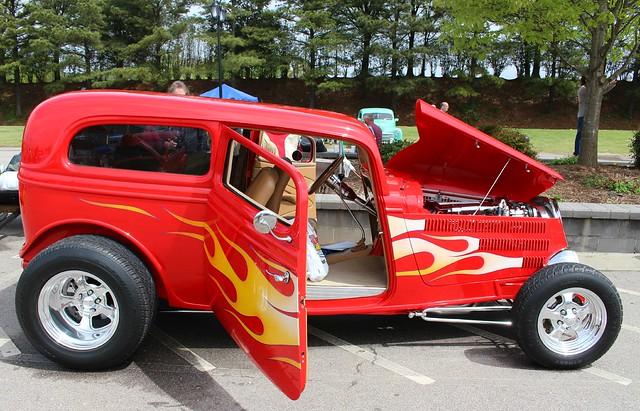 Flaming Hotrod sedan