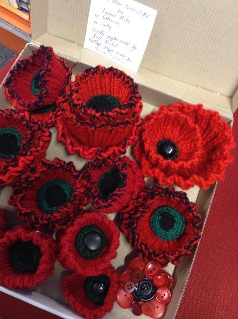 Poppy blanket at Upper Riccarton - Christchurch City Libraries