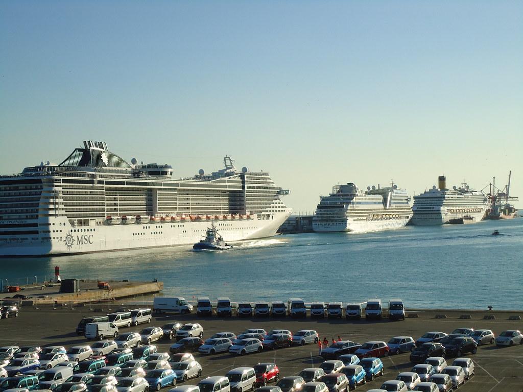 MSC Splendida Cruise Nov 2014 - Barcelona   PORT VELL. (L ...