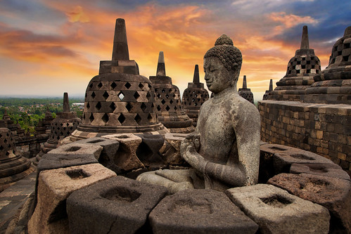 Buddha Sunrise in Borobudur, Magelang, Central Java, Indonesia | by :: Artie | Photography ::