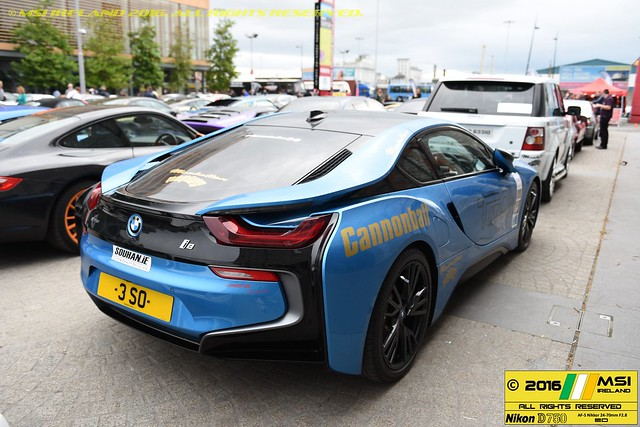 BMW i8. TRON. Cannonball 2016 at the 3 Arena, Dublin