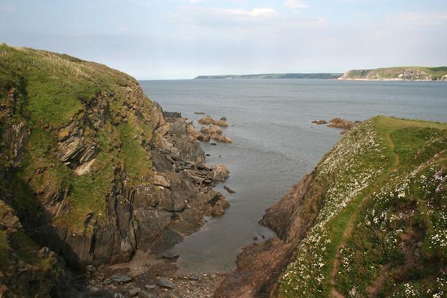 The south east corner of Burgh Island