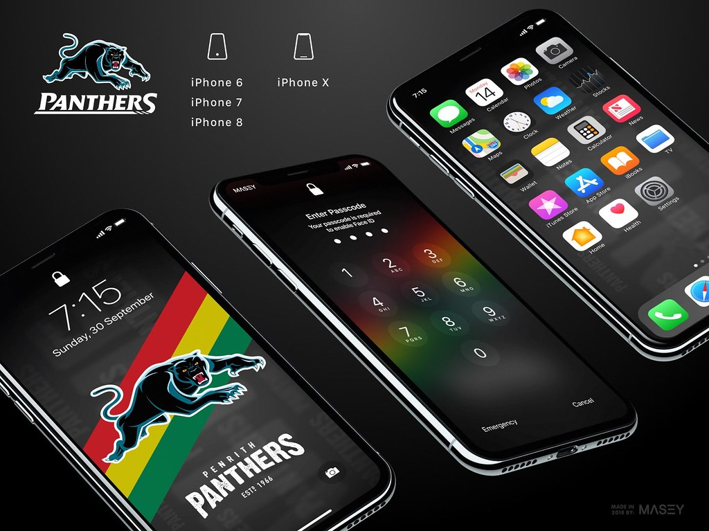 Penrith Panthers iPhone Wallpaper