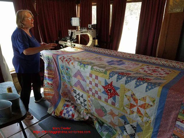 Quilting at Carolyn's on Greta the Gammill