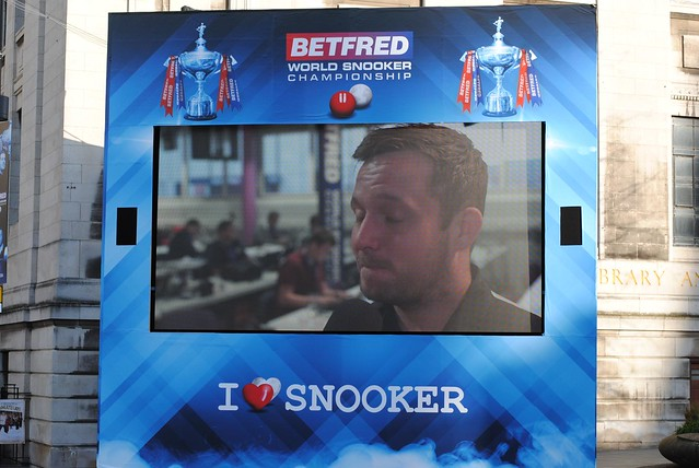 The I Love Snooker Video Wall
