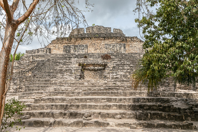 The Smiling Maya Ruins at Chacchoben, Quintana Roo, Mexico
