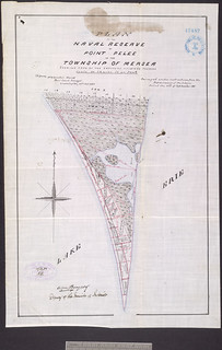 """Plan of the Naval Reserve at Point Pelee in the Township of Mersea…,"" Ontario / Plan de la Réserve navale  de la Pointe-Pelée, dans le canton de Mersea (Ontario)"