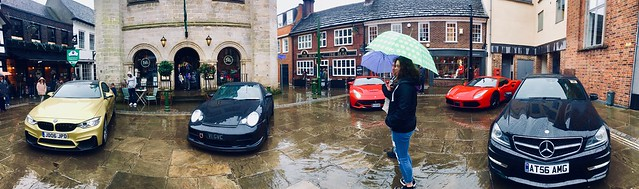Wet 'super'cars in front of Horsham's Town Hall