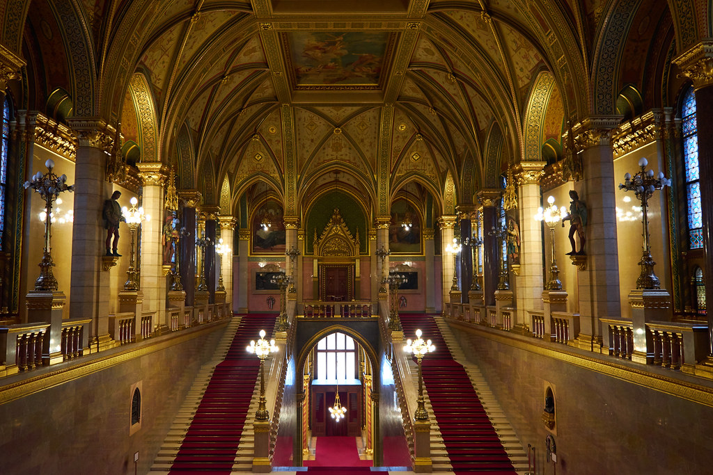 Beautiful interiors of the Hungarian Parliament