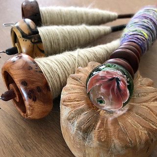 pygora on bossies and more spring spinning