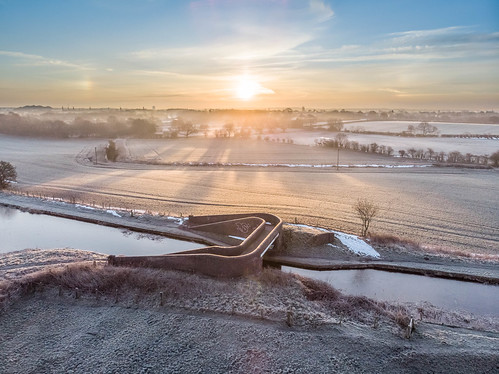 air canal essington sunrise bridge mavic frost ice aerial wyrley fishley dji