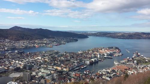 norway norge bergen scandinavia fløyen fløyfjellet