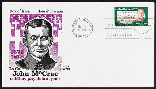 Lieutenant-Colonel John McCrae—5 cent stamp /  Le lieutenant colonel John McCrae sur un timbre de cinq sous   by BiblioArchives / LibraryArchives