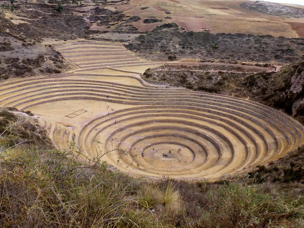 Terrazas De Cultivo De Moray Cusco Perú Cusco Perú