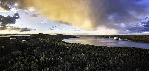 sunset sky panorama rain norway landscape jeløy palmquist multirotor multicopter kjetilpalmquist kjellandsvik