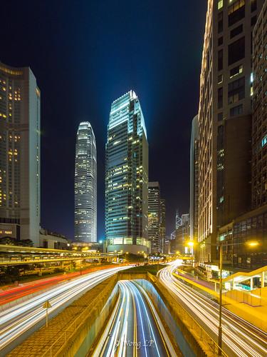 Hong Kong IFC traffic trails | by wonglp