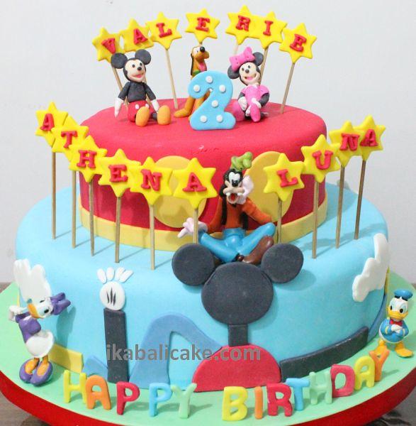 Marvelous Ika Bali Birthday Cake Disney Minnie Mickey Goofy Pluto Do Flickr Personalised Birthday Cards Veneteletsinfo