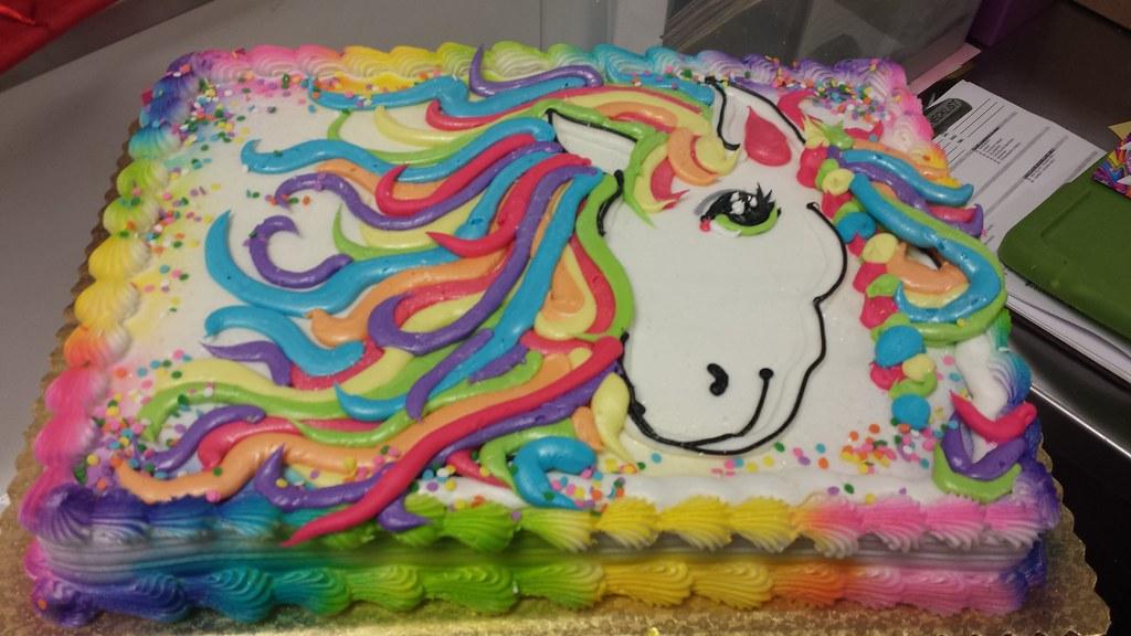 Groovy Lisa Frank Pony Cake Jess Turner Flickr Funny Birthday Cards Online Alyptdamsfinfo