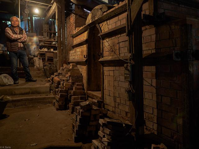 a potter and his kiln