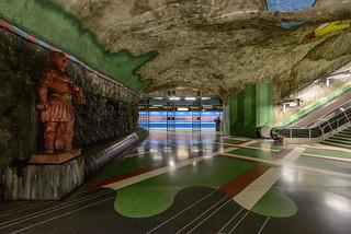 Kungsträdgården Metro station   by Arild Vågen