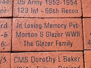Plaque honoring Steve's father Mort Glazer at Lafayette Veterans Memorial Center | by Glazer For Senate