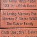 Plaque honoring Steve's father Mort Glazer at Lafayette Veterans Memorial Center