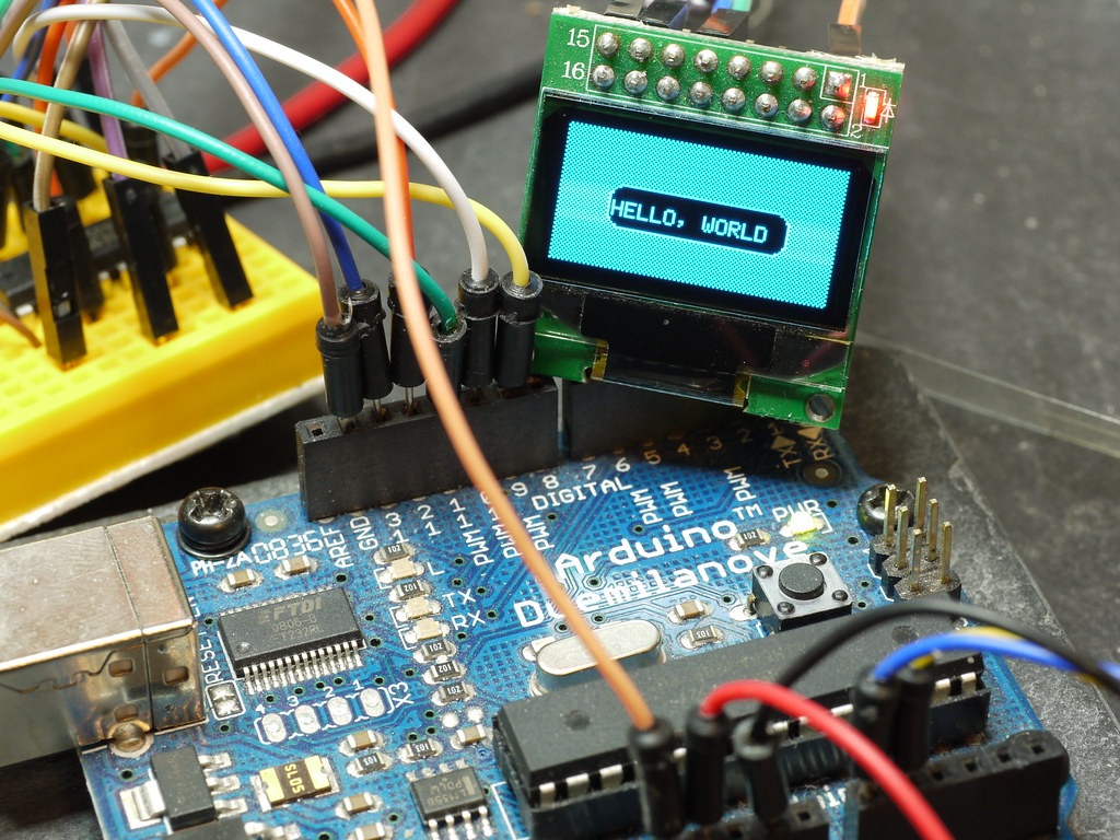 Pong Game on Arduino and OLED Display   128x64 pixel graphic…   Flickr
