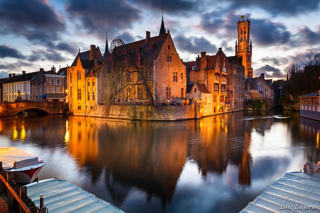 Brugge at dusk