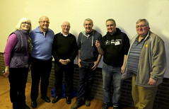 Kings Lynn Astro Society - Some of Committee members with Dr Simon Sheridan centered with two thumbs in pockets :)