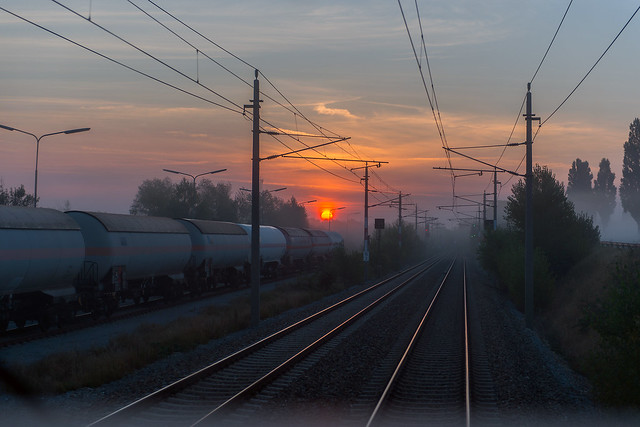 Train drivers sunrise