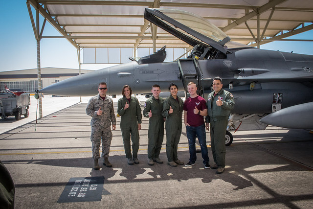 Cadets ride in F-16