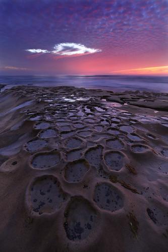 california sunset clouds sandiego lajolla potholes